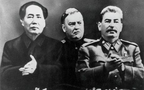 Mao Tse-Dong and Joseph Stalin during the Cold War