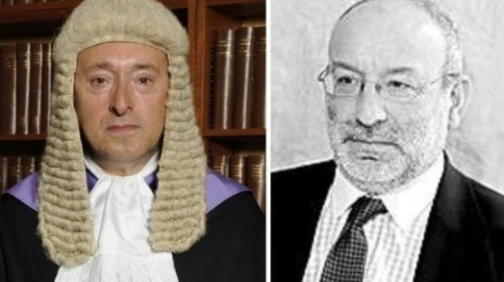 His Honour Judge Peters QC and Prosecutor Robert Colover.
